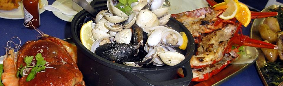 16.04.2011, Portugal, Pedra Alta, Fischplatte für eine Person, als Beilage eine Paella
